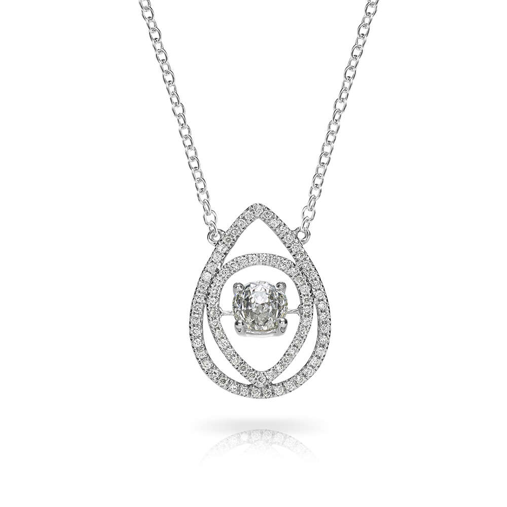 cz gold vermeil pendant pfs inches jewelry pave royal bling necklace crown plated