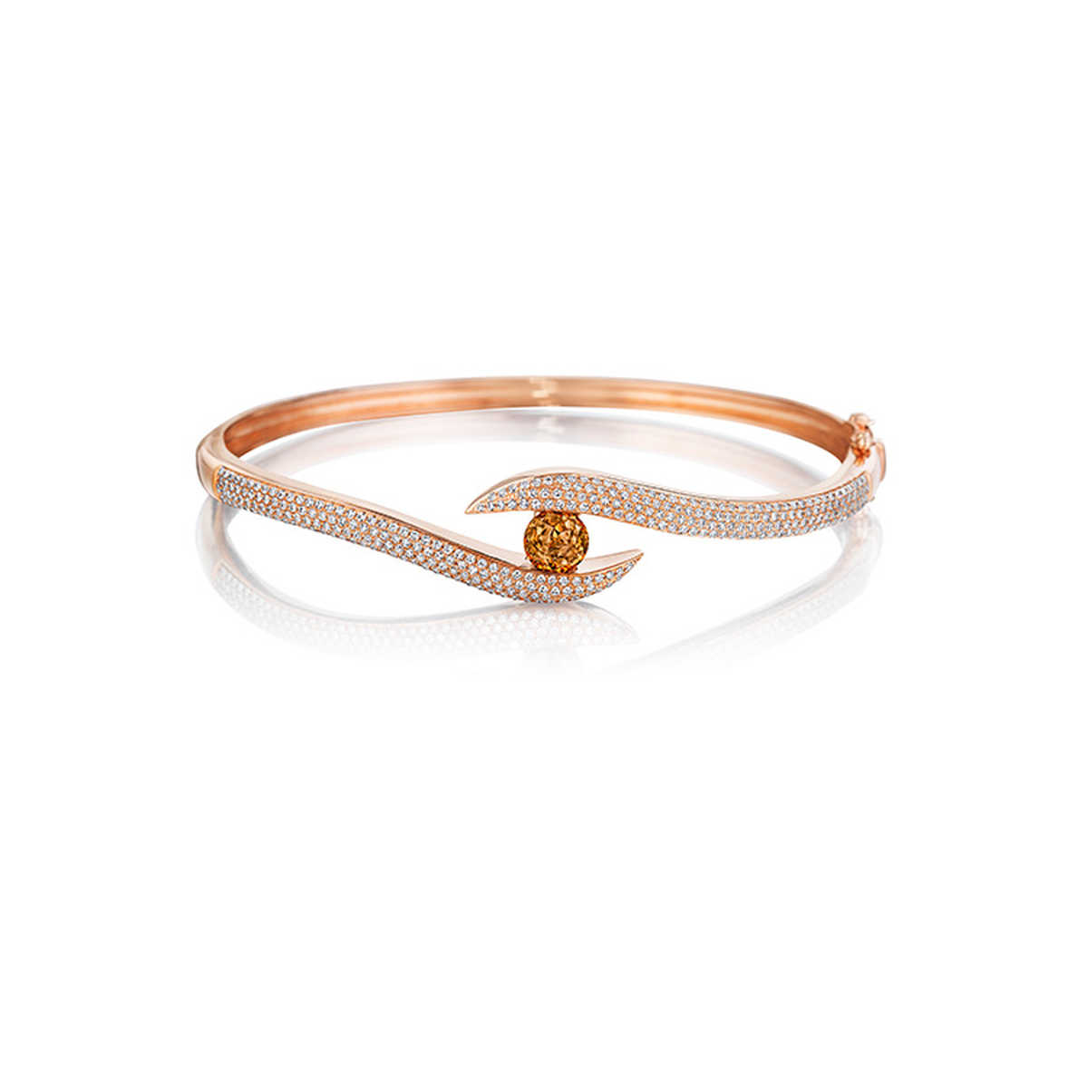 connection rose karat seraphine light collections shop crown bracelets seraphina bangle gold bangles of