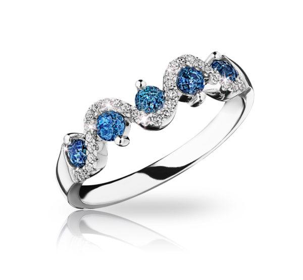 crown voyage ring blue